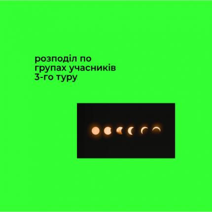 Розподіл по групах учасників 3-го туру конкурсу-2020/21 Завтра.UA